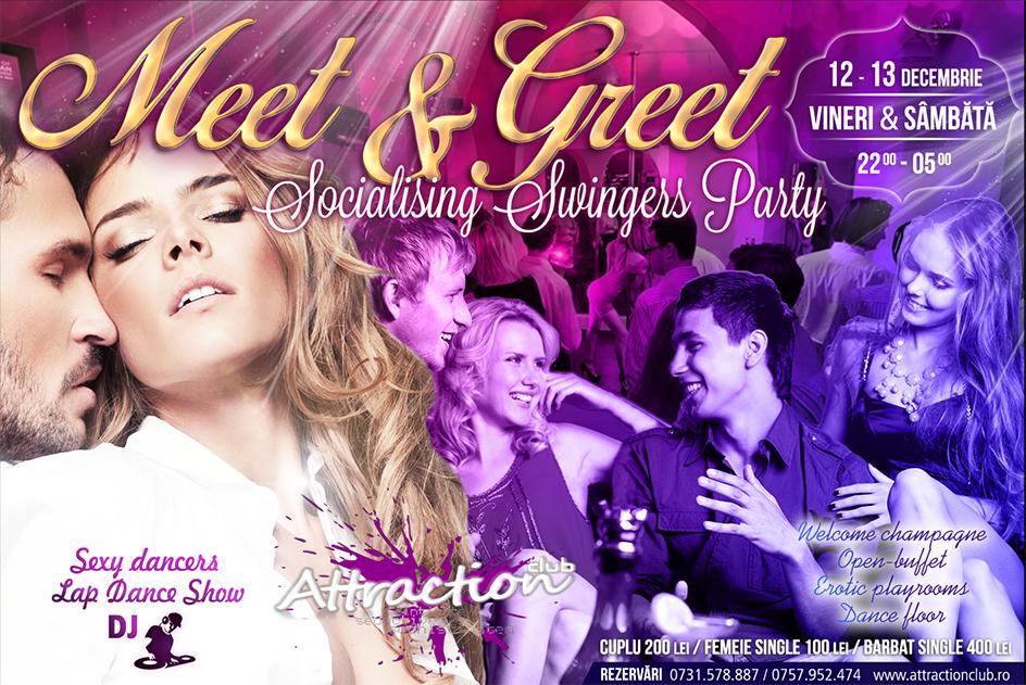 Week-endul ăsta din nou o petrecere de mare success: Meet & Greet Swingers Party! E un party favorit pentru că îți faci ușor prieteni, cunoști multă lume nouă, socializezi într-un mod sexy și te distrezi la maxim! Dansatoare sexy, lap-dance show & DJ!