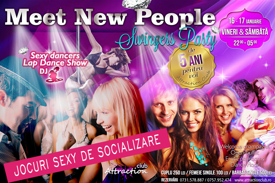 Vrei să cunoști mulți oameni noi într-o atmosferă sexy și rafinată? Vino weekend-ul ăsta la Meet New People Swigers Party. O să fie plin de cupluri și persoane atrăgătoare. Dansatoare sexy și lap-dance show. Rezervă acum!