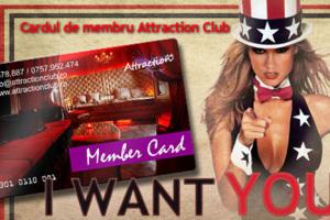 Cardul de membru Attraction Club